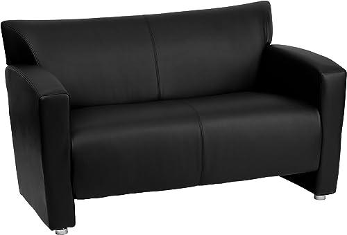 Flash Furniture HERCULES Majesty Series Black Leather Loveseat