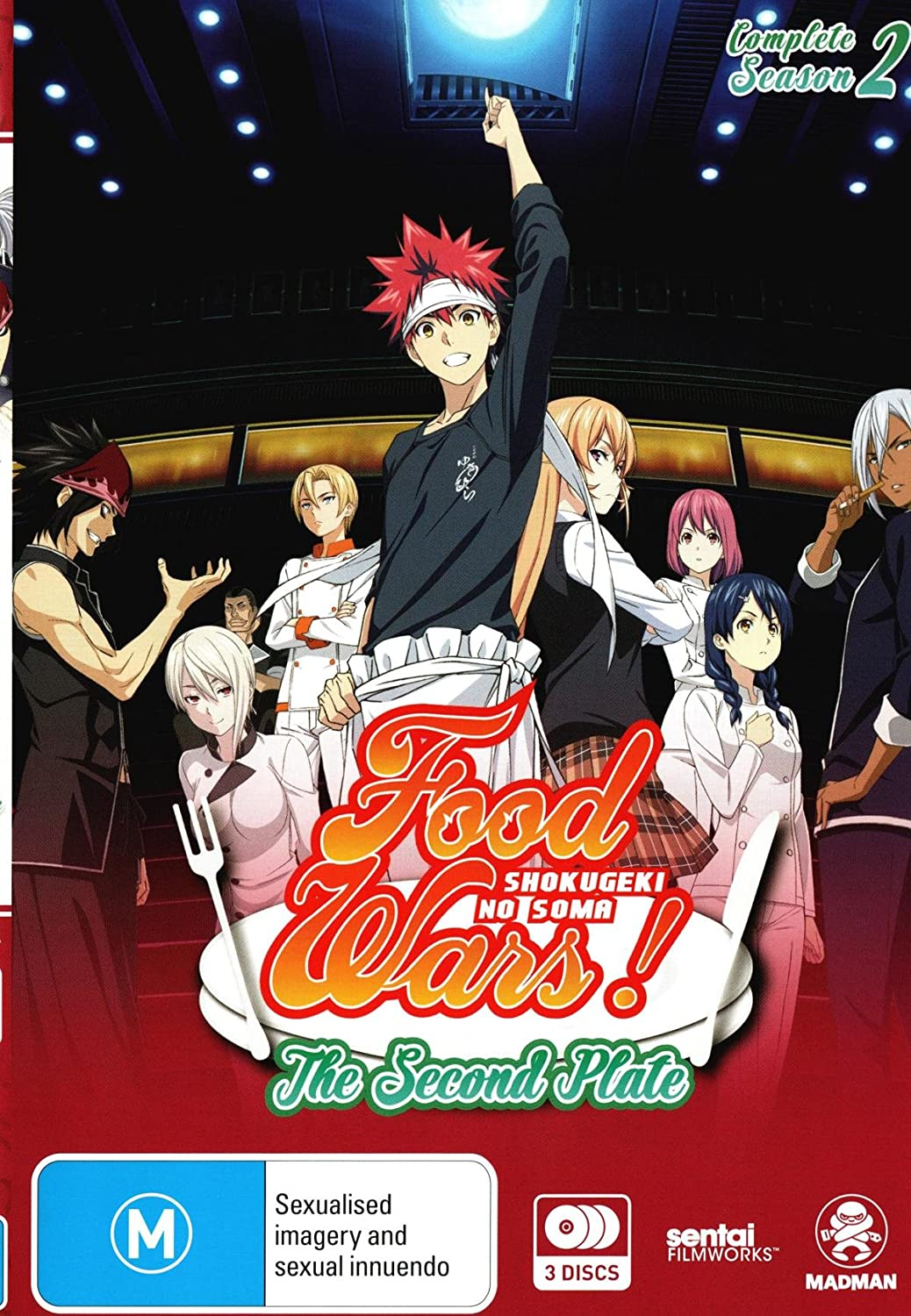 Food Wars! The Second Plate: Season 2 | Anime | NON-USA Format | PAL Region 4 Import - Australia
