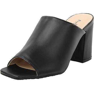 AgeeMi Shoes Femmes Sandales à Talons Épais Ouvertes Bout Peep-Toe Chaussures