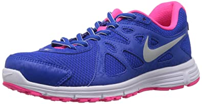 nike shoes for girls blue and pink. nike girls revolution 2 msl running shoes, blue/pink/white, 4 uk shoes for blue and pink