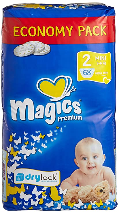 Magics Diapers - Pañales - Talla 2 (3 - 6 kg) - 3 x