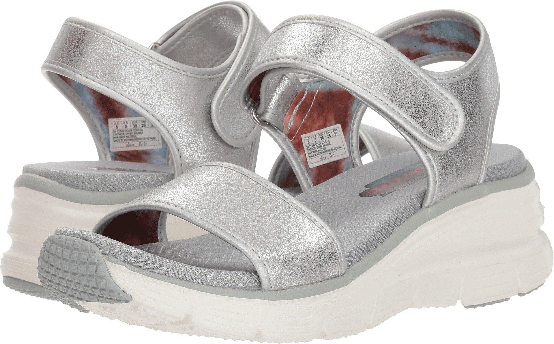 Skechers Women's Wedge Appeal - Brush-Off Silver 10 B US