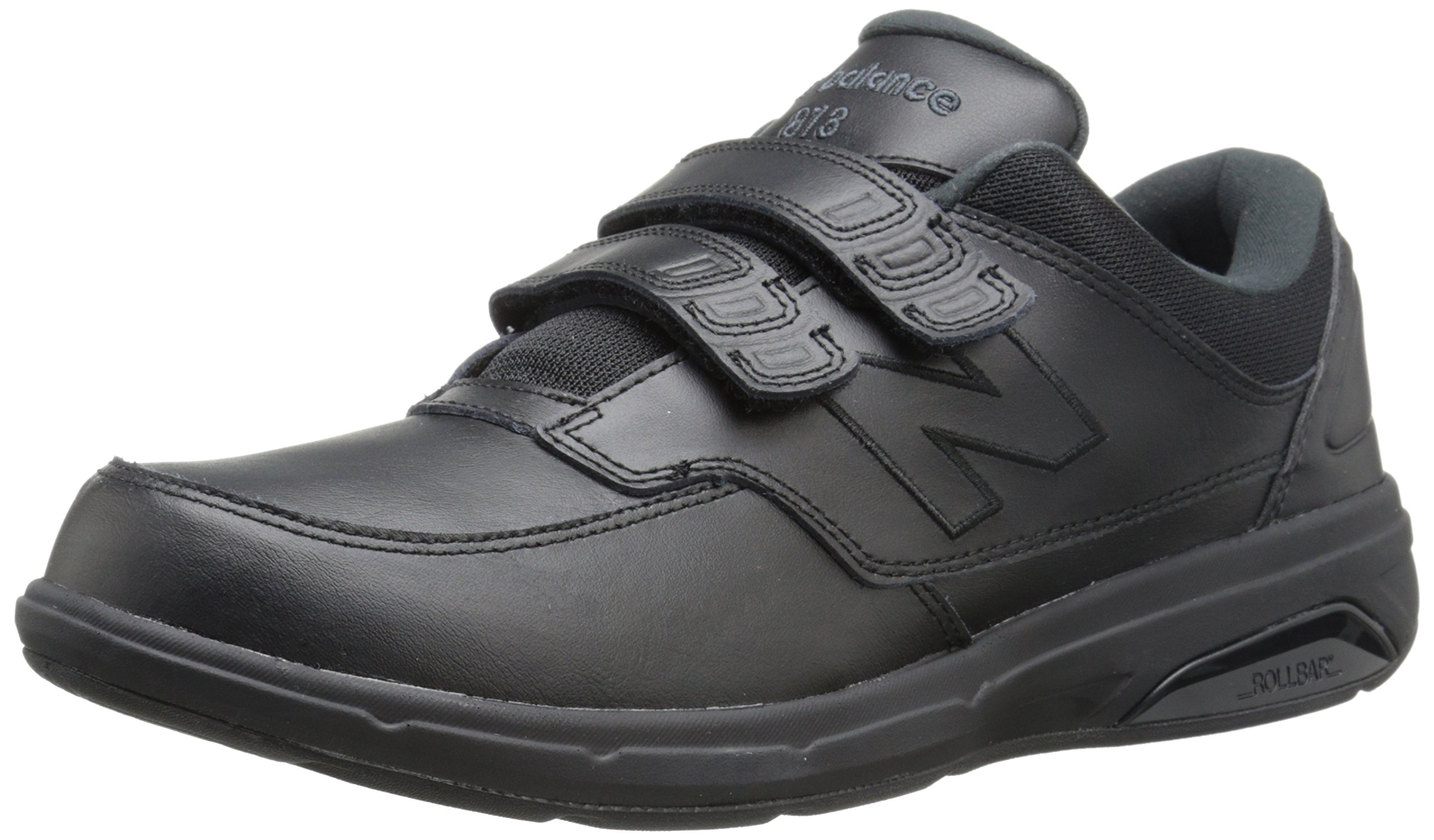 New Balance Men's MW813V1 Hook and Loop Walking Shoe, Black, 10.5 4E US by New Balance