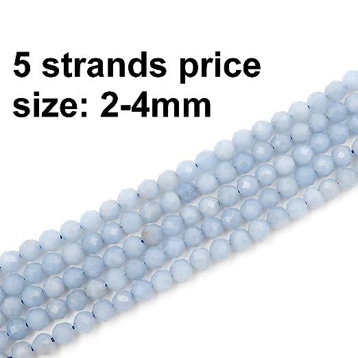 Cuentas facetadas de 2 - 4 mm para bisutería, se vende por ...
