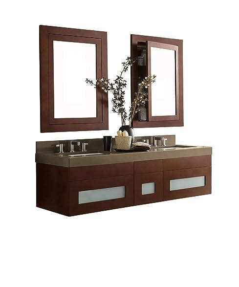 RONBOW Rebecca 60 inch Double Bathroom Vanity Set in Dark Cherry Bathroom Vanity with Top  sc 1 th 246 & RONBOW Rebecca 60 inch Double Bathroom Vanity Set in Dark Cherry ...