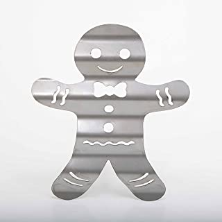 product image for Surf To Summit Corrugated Metal Gingerbread Man Christmas Holiday Home Decor Wall Art Custom Plasma Cut Steel Sign Rustic Sign