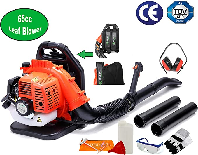BU-KO 65CC Petrol Backpack Leaf Blower - Air Cooling Engine