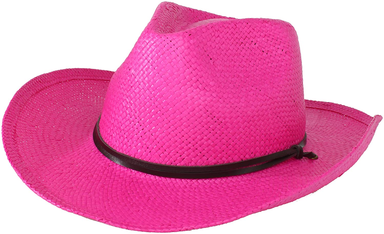 San Diego Hat Company Women's Soft Toyo Paper Cowboy Hat Bright Pink One Size stclbrtpnk