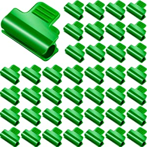 Patelai 40 Pieces Greenhouse Clamps Film Row Cover Netting Tunnel Hoop Clip Frame Shading Net Rod Clip Greenhouse Film Clamps for Season Plant Extension Support, 11 mm/ 0.43 Inch