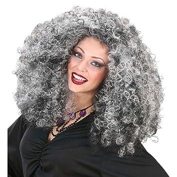 Peluca de la peluca de bruja Kraushaar bruja Halloween peluca de la peluca de la peluca para mujer fangtasia rizos de bruja VAMPIRESA accesorios de ...
