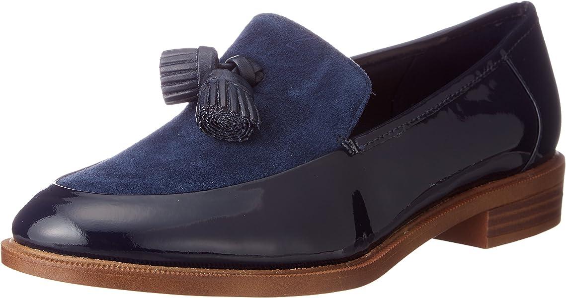 85c6f437a2d7e7 Clarks Damen Sportlich-Elegant Taylor Spring Leder Halbschuhe Größe 37   Amazon.de  Schuhe   Handtaschen