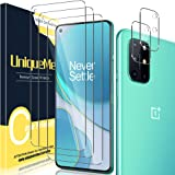[2+3 Pack] UniqueMe Camera Lens Protector and Screen Protector for Oneplus 8T 5G Termperd Glass [Easy Installation Frame] HD