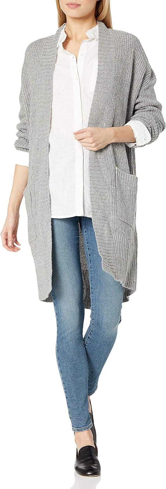 Freshman 1996 Womens Drop Shoulder Open Cardigan Sweater