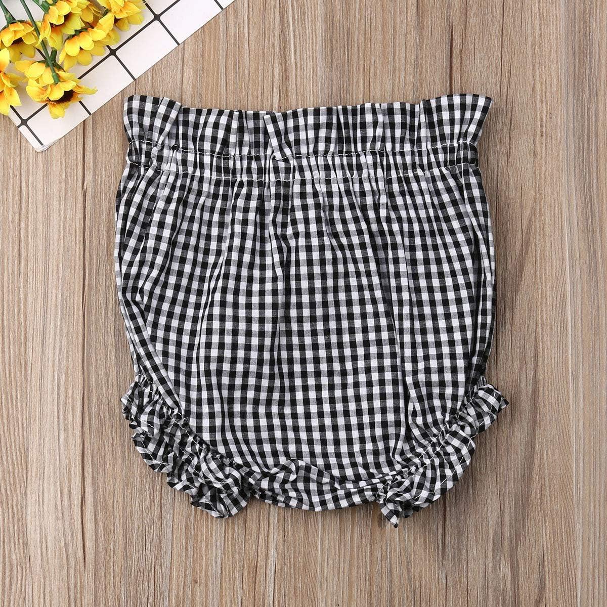 Karuedoo Baby Boys Girls Floral Print Ruffle Panty Diaper Covers Bloomer Shorts Loose Harem Shorts