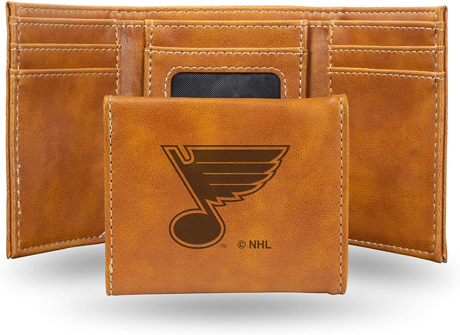 NHL Rico Industries Laser Engraved Trifold Wallet, St. Louis Blues