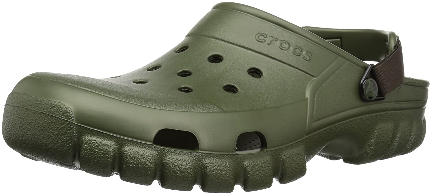 054f8073b1f crocs Unisex Off Road Sport Clog Army Green/Espresso 8 Women/6 Men M US:  Buy Online at Low Prices in India - Amazon.in