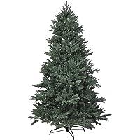 RS Trade HXT 1418 künstlicher PE Spritzguss Weihnachtsbaum 120-240 cm, schwer entflammbarer Tannenbaum mit Schnellaufbau Klappsysem, inkl. Metall Christbaum Ständer