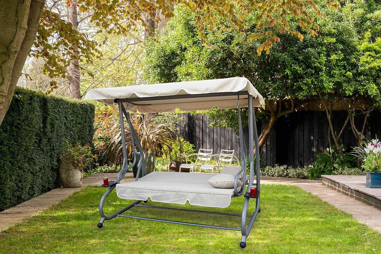 KMS FoxHunter – Jardín metal balancín de jardín de 3 plazas ...