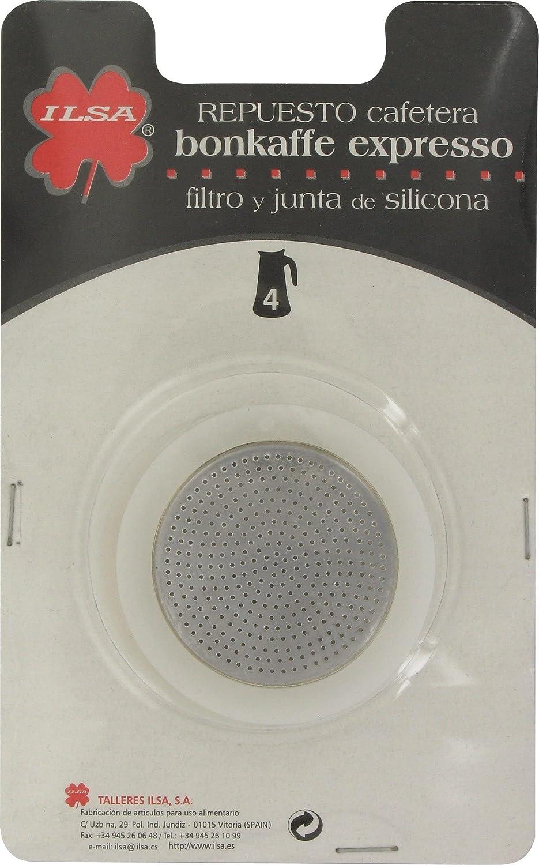 Ilsa 314Y4B - Cafetera Inoxidable Filtro+Junta Silic: Amazon.es: Hogar