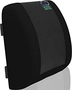 Modvel Back Support for Office Chair | Lumbar Support Posture Corrector for Car, Wheelchair, Desk Chairs | Orthopedic Pillow for Waist & Tailbone Pain Relief | Soft & Firm Foam Cushion (MV-101)