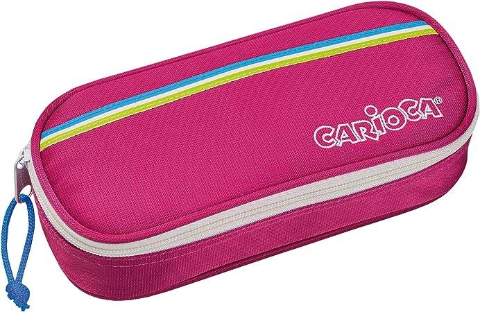 CARIOCA FLUO POUCH |Estuche Escolar con Cremallera, Porta-Lápices con Elásticos, Rosa (23172/PINK): Amazon.es: Juguetes y juegos