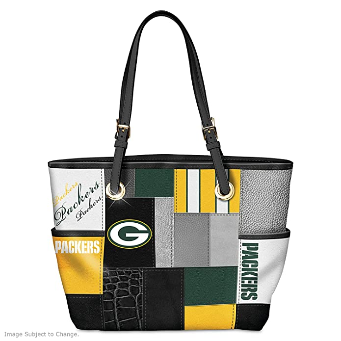 7b0482dbd Amazon.com: For The Love Of The Game NFL Green Bay Packers Tote Bag by The Bradford  Exchange: Shoes