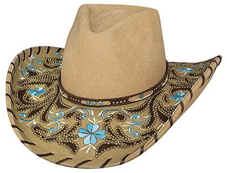 7615edc57c723 Montecarlo Bullhide Hats ALWAYS ON MY MIND Premium Wool Cowboy Western Hat  (Small)