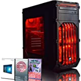 ADMI Ultra-R1 Gaming PC: AMD FX-6350 Six Core 4.20GHz Turbo CPU, NVIDIA GTX 1050 2GB HDMI Graphics Card, 8GB 1600MHz DDR3 RAM, 1TB Hard Drive, HDMI/1080p, USB 3.0, 150Mbps WiFi, Corsair Carbide SPEC-03 Red LED Case, Pre-Installed with Windows 10 Operating System