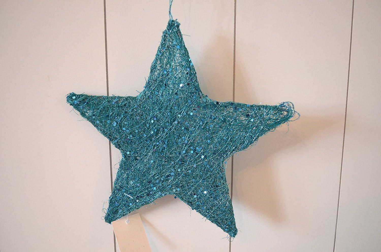 Sisalstern stern sisal türkis blau !!! 2er set !!! 2 stück ...