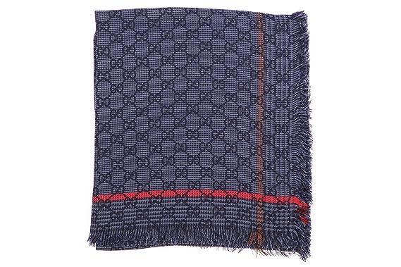 maggiore sconto di vendita ma non volgare vari stili Gucci sciarpa uomo in cotone gg blu: Amazon.it: Abbigliamento