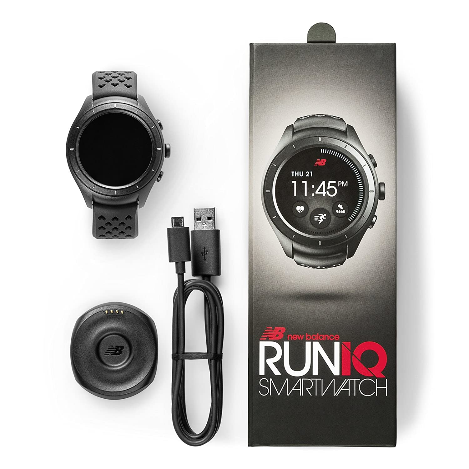 New Balance RunIQ Smartwatch, Silver, One Size