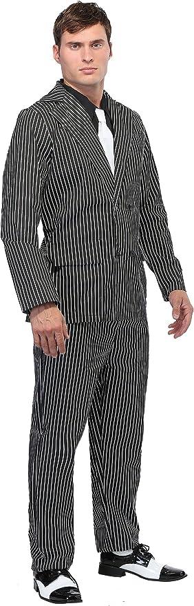 Men's Wide Pinstripe Gangster Costume Suit