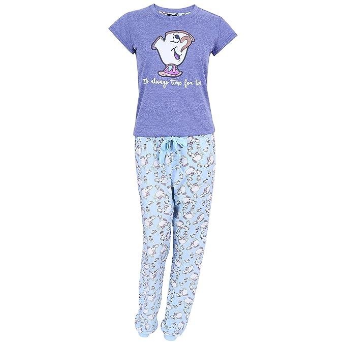 Pijama Azul Taza Chip La Bella y la Bestia Disney - Small