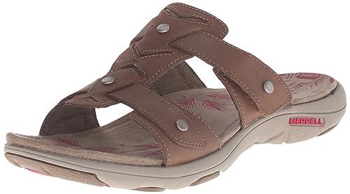 Merrell Women's Adhera Slide Sandal, Brown, ...