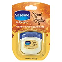 Deals on Vaseline Lip Therapy Lip Balm Mini, Creme Brulee, 0.25 oz