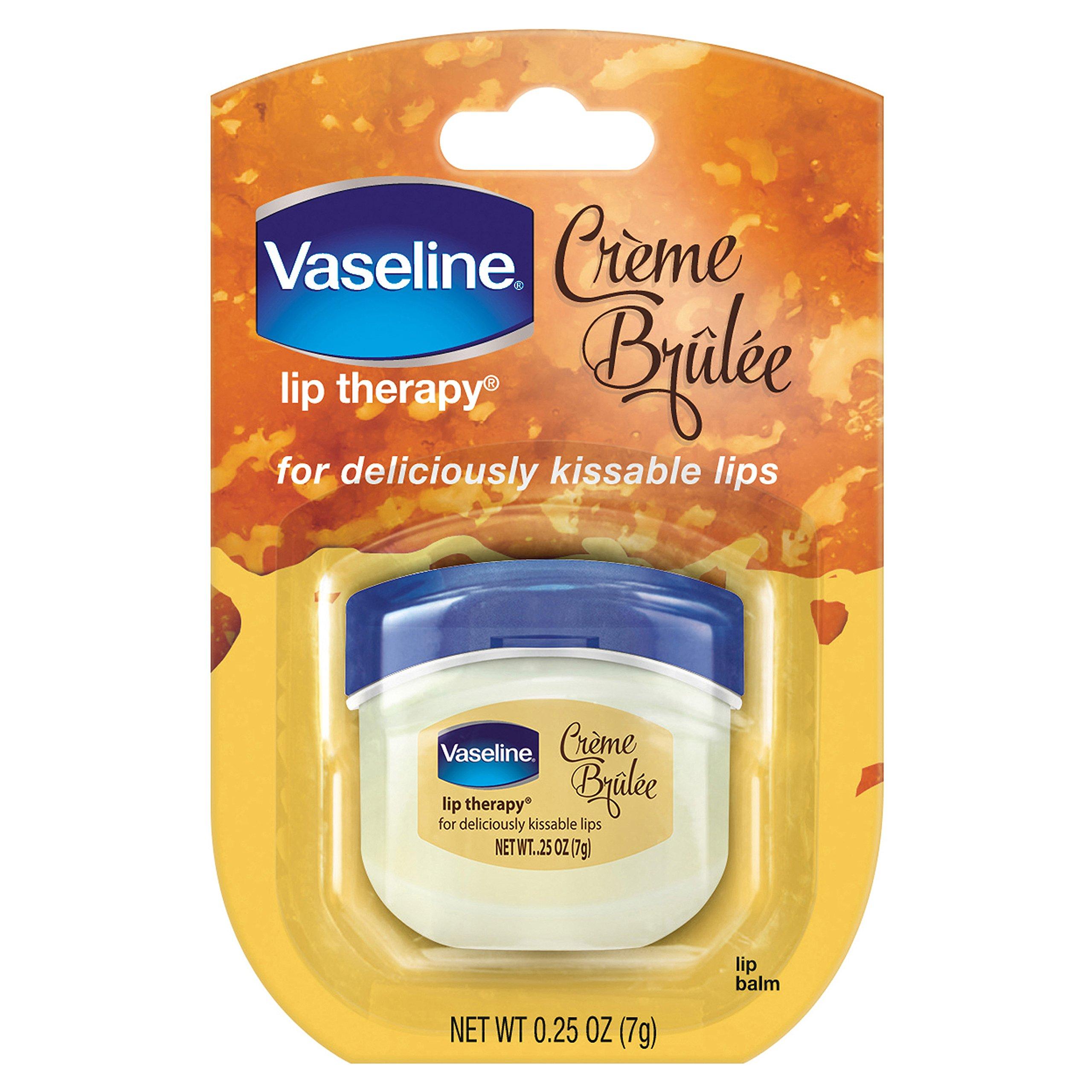 Vaseline Lip Balm, Creme Brulee, 0.25 oz