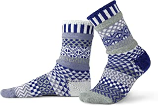 product image for Solmate Socks - Mismatched Crew Socks; Made in USA; Glacier Medium