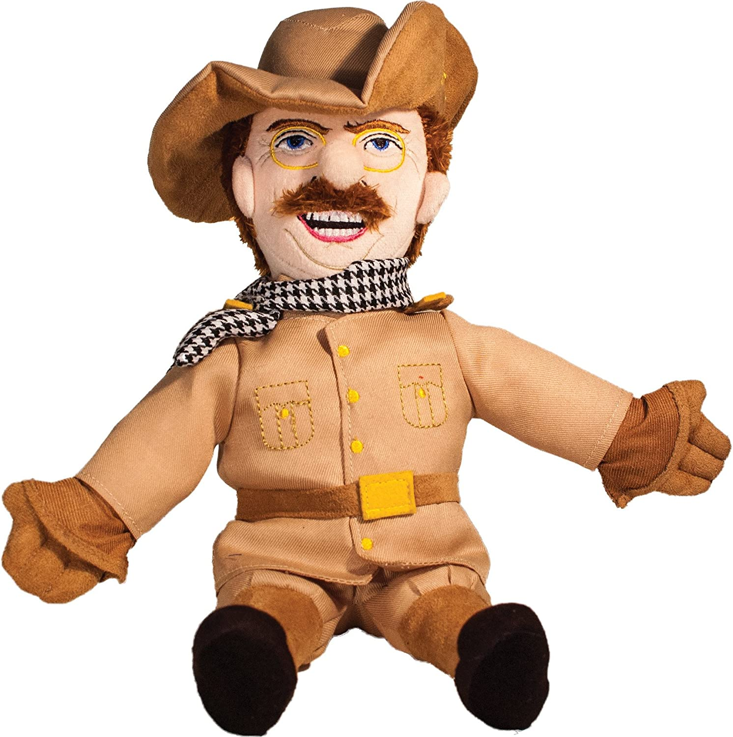 The Unemployed Philosophers Guild Theodore Roosevelt Little Thinker 11 Plush Doll for Kids and Adults