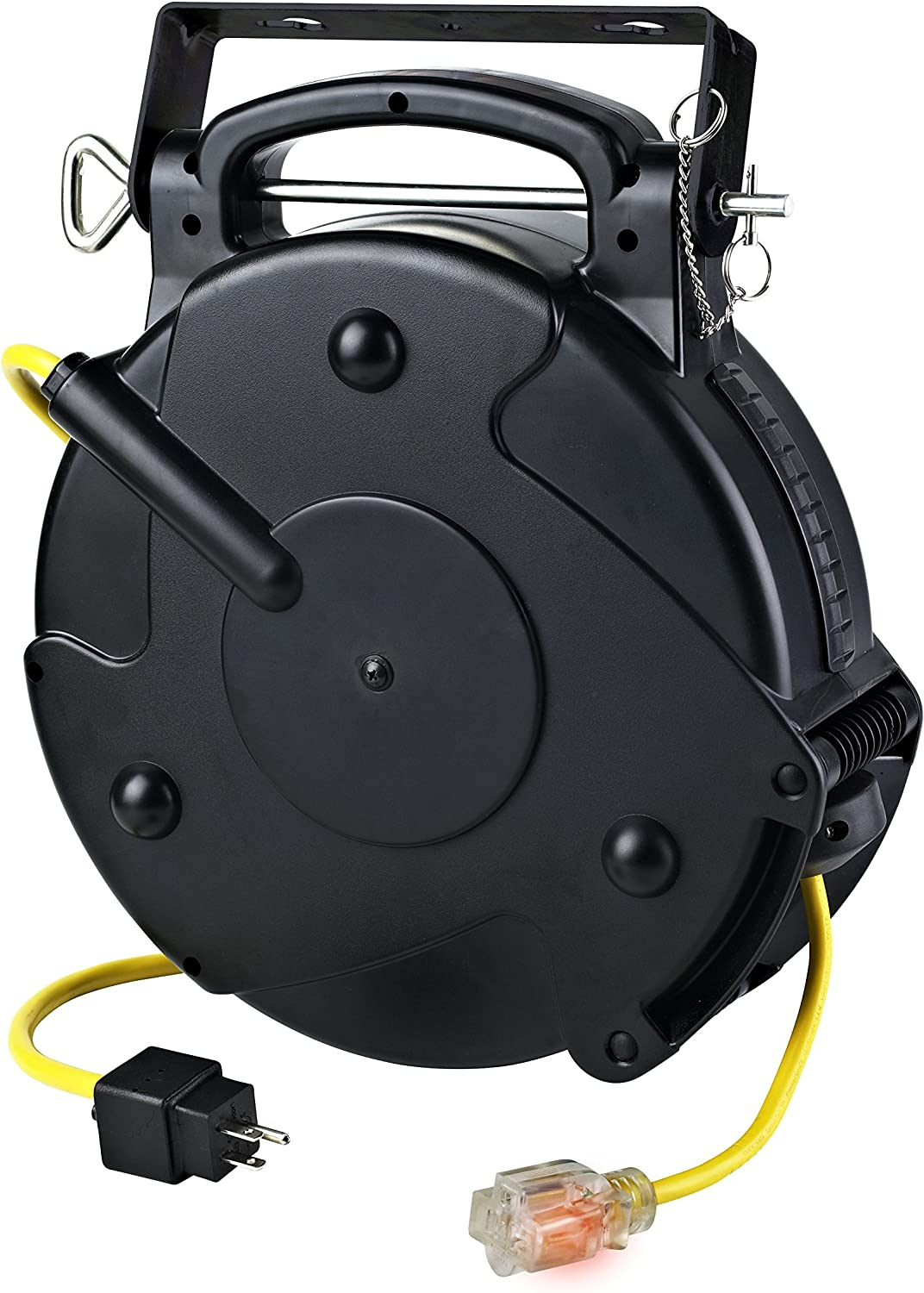 Alert Stamping 8665tfs Heavy Duty 12 3 65 Foot Single Tap Industrial Retractable Extension Cord Reel Amazon Com