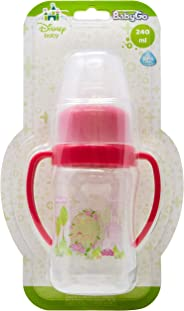 Mamadeira 240 ml Super Higiênica Decorado Orto Silicone Blister, Disney Baby Go, Rosa
