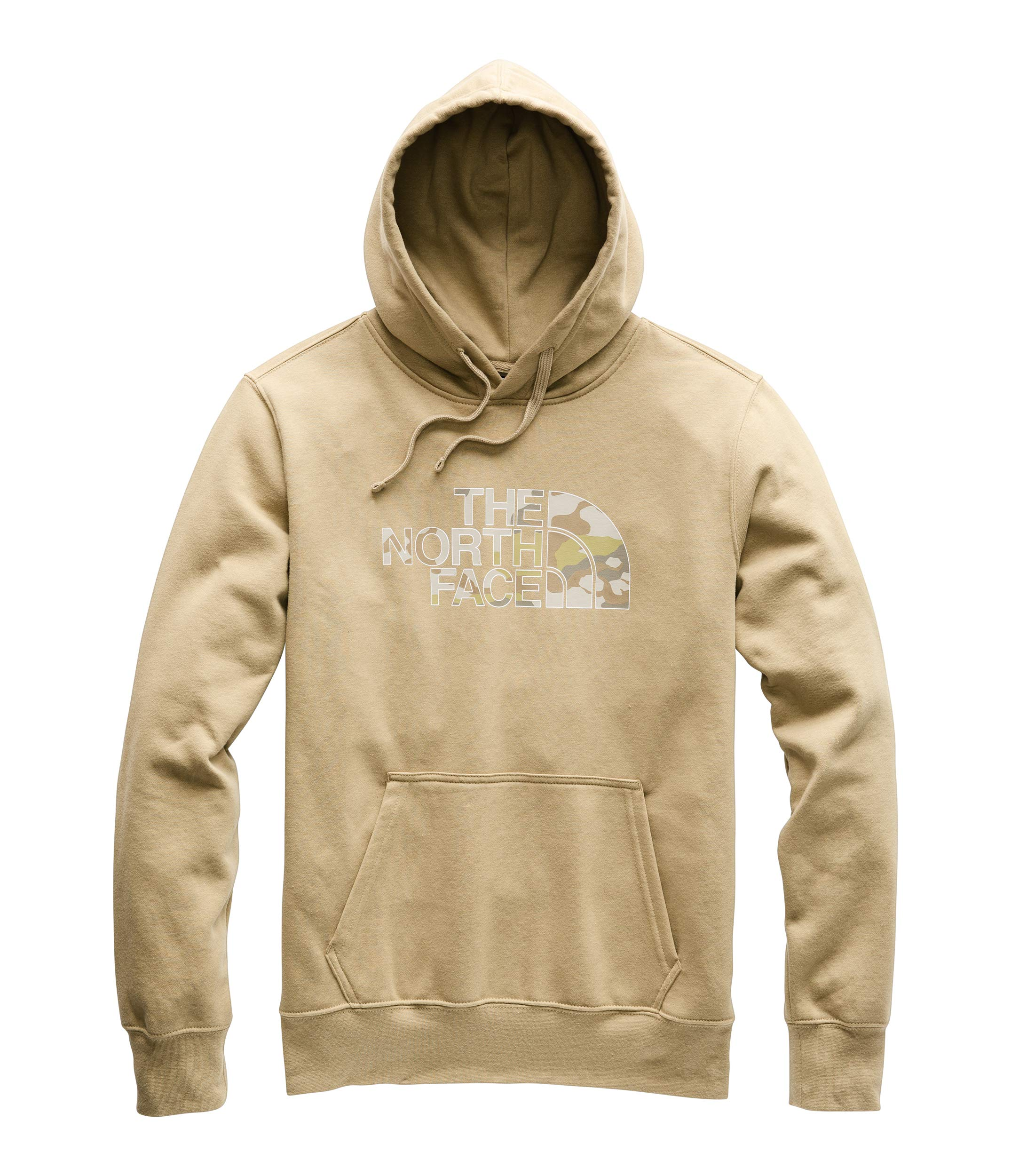 The North Face Men's Half Dome Pullover Hoodie Kelp Tan/Moab Khaki/Woodchip Camo Desert Print Small