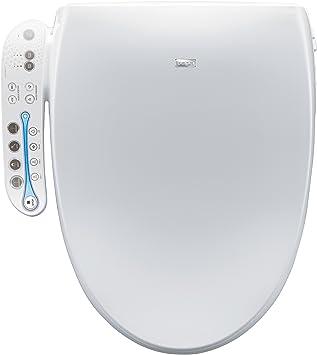Biobidet A7 Aura Elongated Bidet Toilet Seat White Adjustable Heated Seat Warm Water Air Dryer Stainless Steel Nozzle Amazon Com