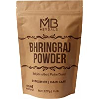 MB Herbals Pure Bhringraj Powder 227g   8.00 oz   Half Pound   Pure Bhringaraj Powder   100% Pure Eclipta alba Powder…