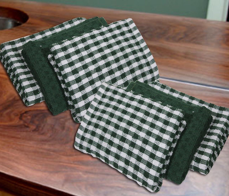 Casabella Pack Of 6 Terry Towelling Cotton Kitchen Tea Towels. Unbeatable Price_Beige_6 Pieces Set