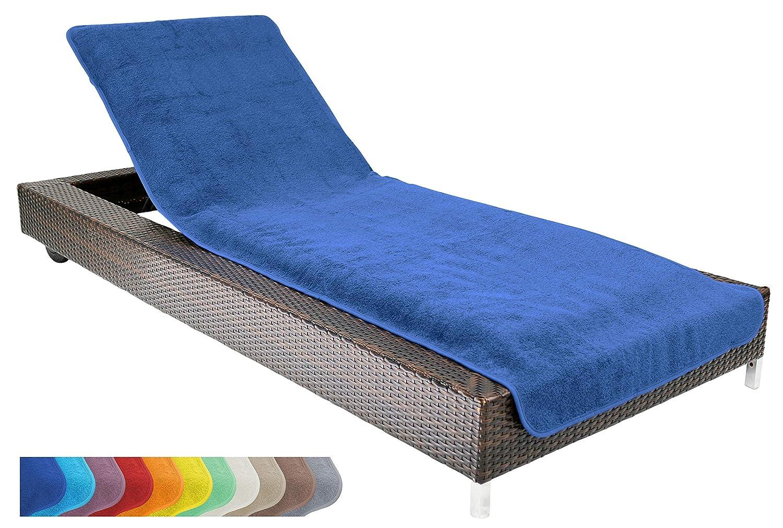 Brandsseller Telo copri-lettino da mare o piscina, in 100% cotone, misura circa 75x 200cm, Cream/White, 75x200 cm