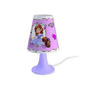 Philips Lighting 717959616 Principessa Sofia Lampada da Tavolo 2.3 W, Viola