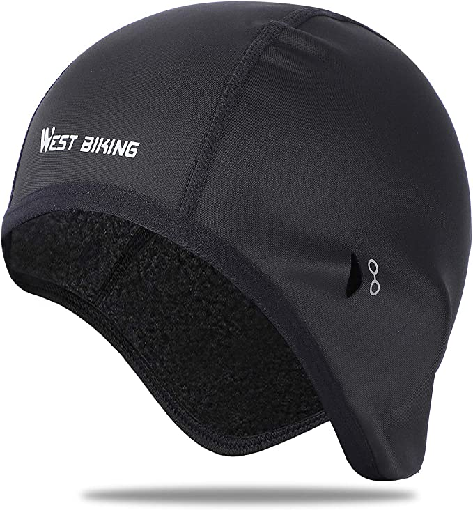 Cycling Head Warmer Thermalm Beanie Helmet One Size Running Mens Hat Skull Cap