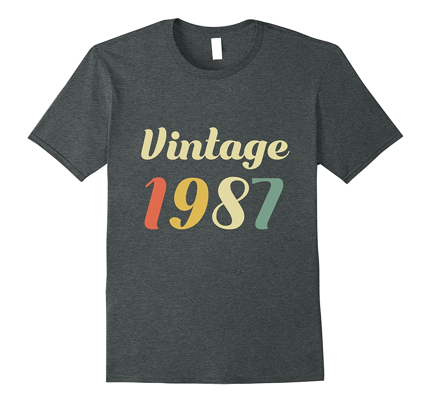 30th Birthday Gift Idea - Vintage 1987 Novelty T Shirt-FL