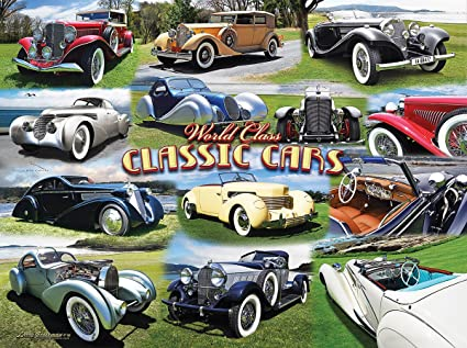 World Class Classic Cars 1000 Piece Jigsaw Puzzle by SunsOut