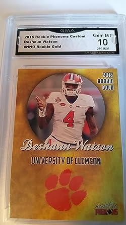 Deshaun Watson Clemson graded Rookie Gem Mint GMA 10